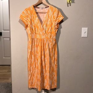 Boden dress orange/white